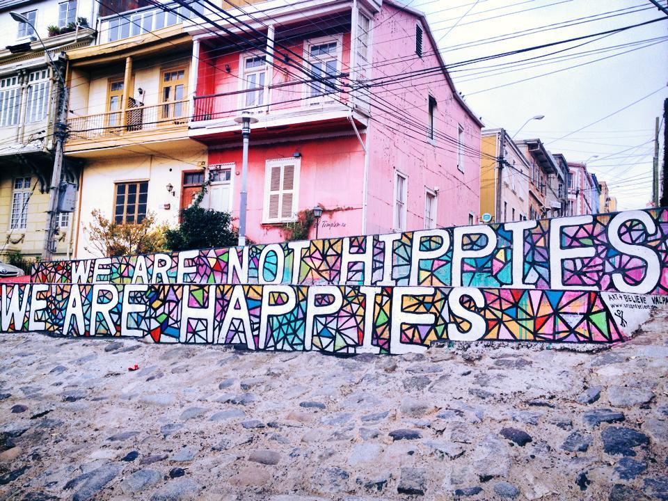 Street art à Valparaiso, Chili, Amérique du sud et latine