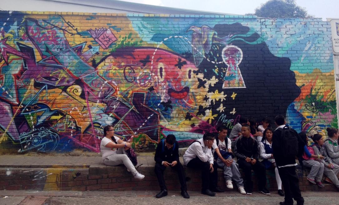 Las Aguas, Bogota, graffiti, street art, amérique latine, du sud, pauvreté, danger, sécurité