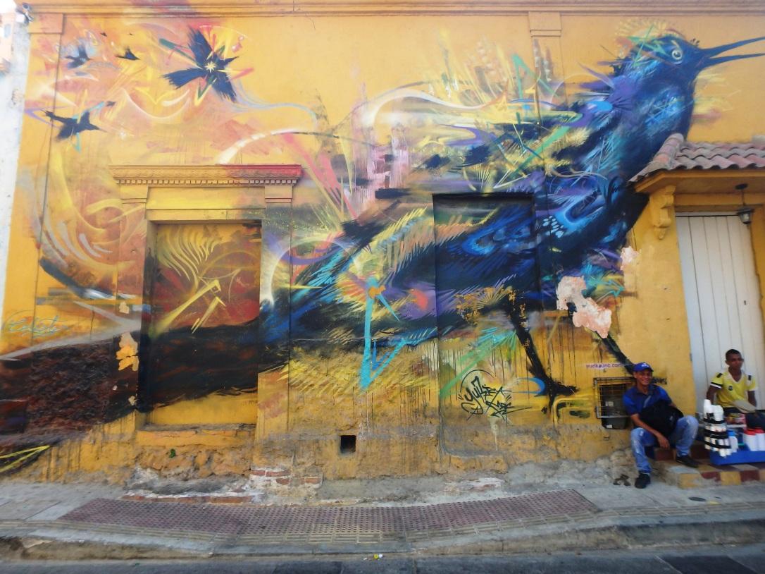 Getsemani, Carthagene, caraïbe, colombie, amérique latine et du sud, graffiti, street art, pauvreté, sécurité, danger, clochard, SDF