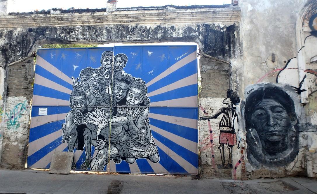 Getsemani, Carthagene, colombie, caraïbe, graffiti, street art, amérique latine, du sud, inégalités, pauvreté, clochards, SDF
