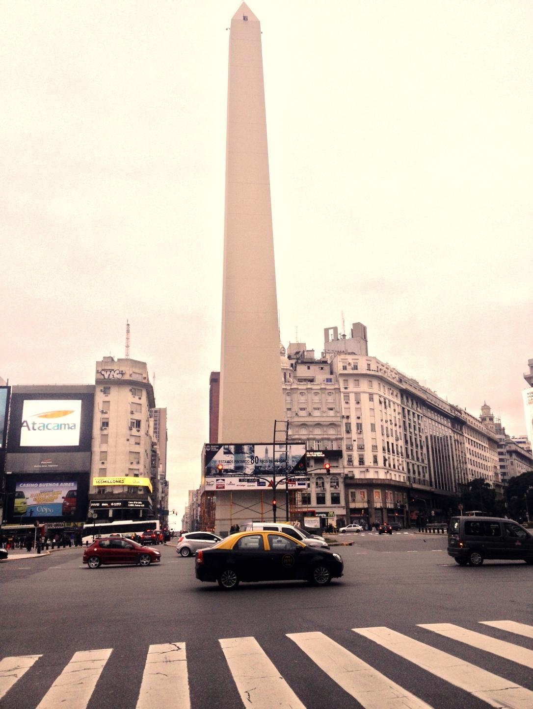 L'obélisque de Buenos Aires, Microcentro. Amérique du sud/ latine