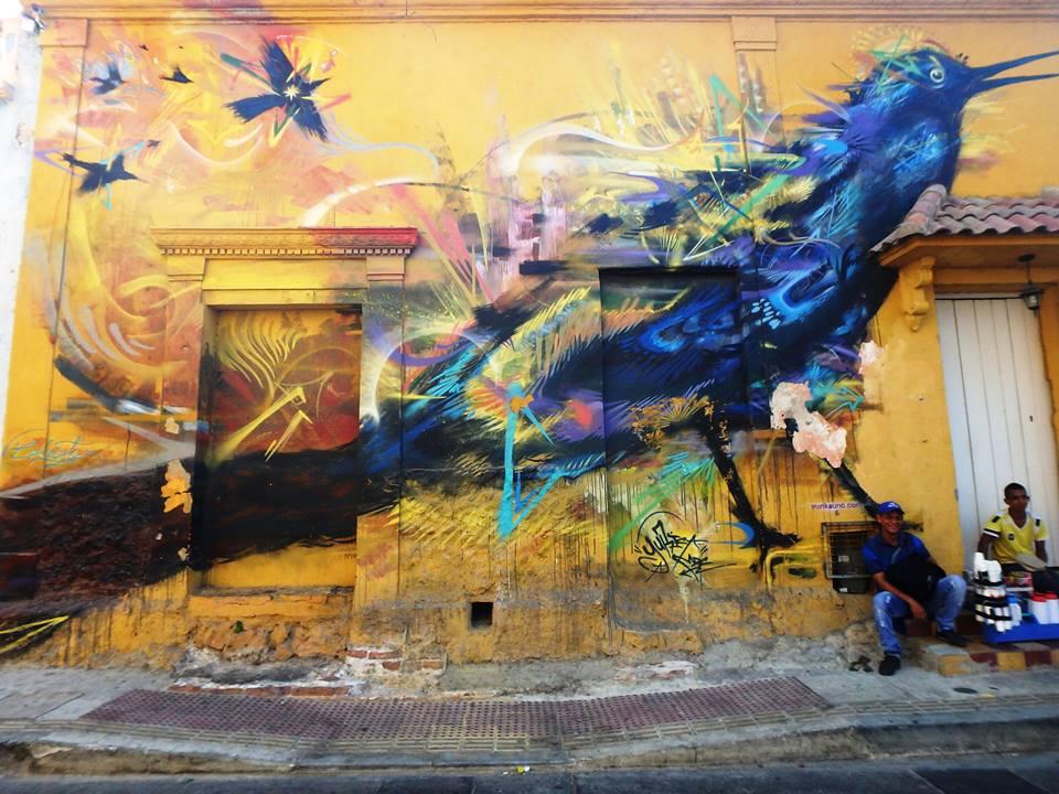 Carthagène, côte caraïbe - Colombie, Amérique du sud. Graffiti, Street Art