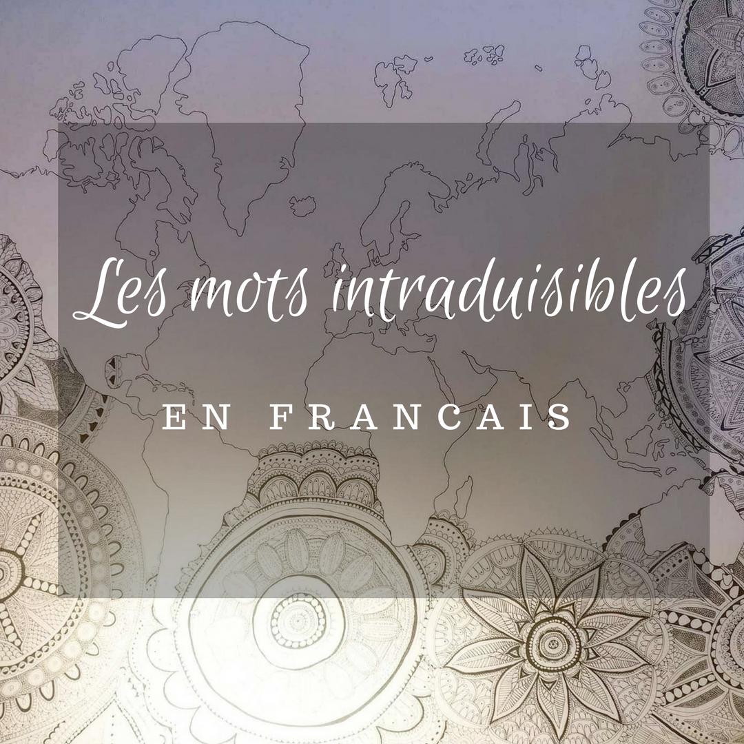 les mots intraduisibles en français