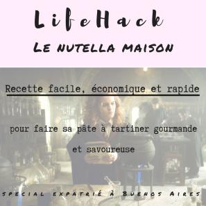 lifehack : recette nutella maison, pâte à tartiner aux noisettes