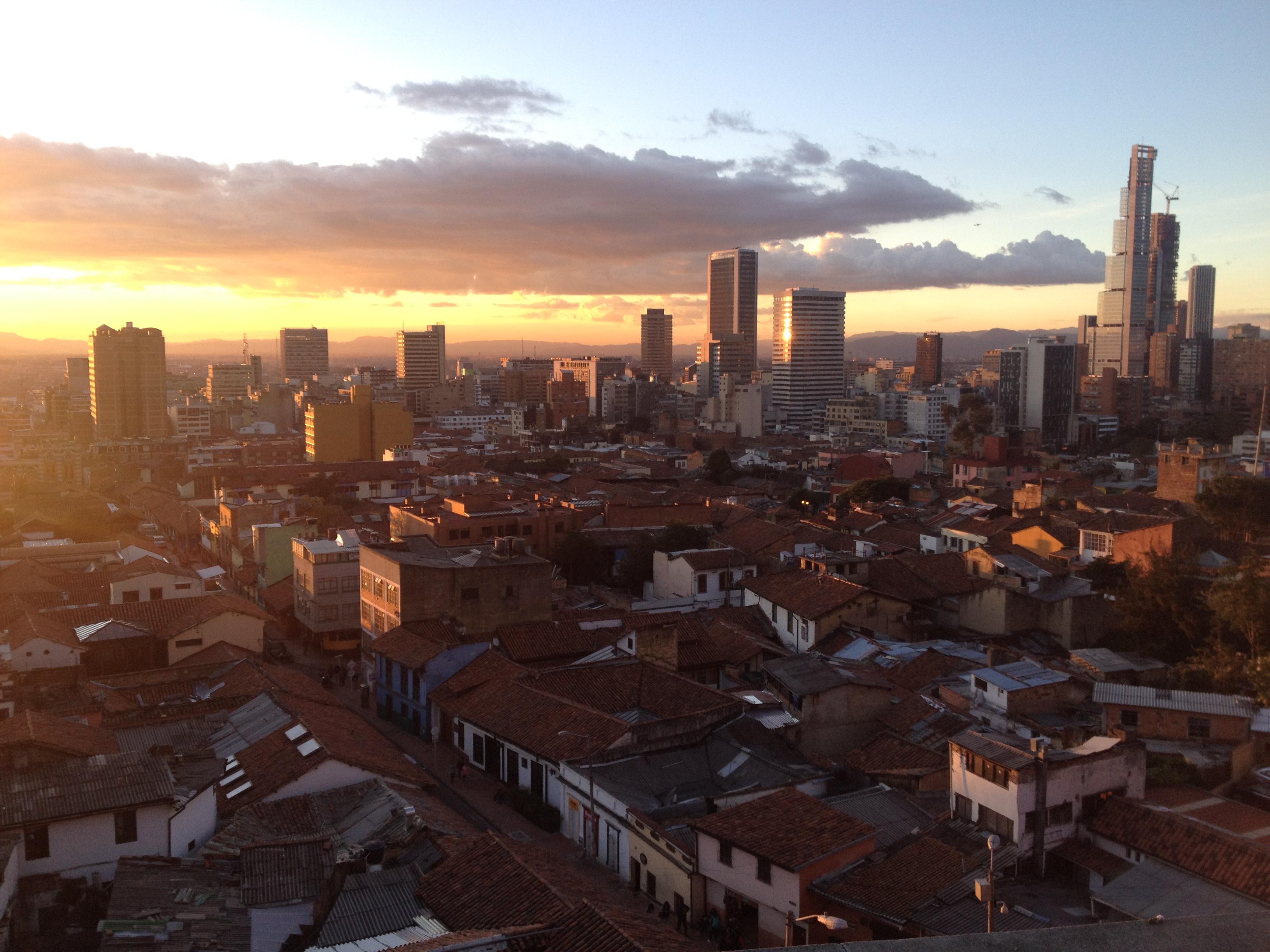 Les toits de la Candelaria, Bogota, Colombie