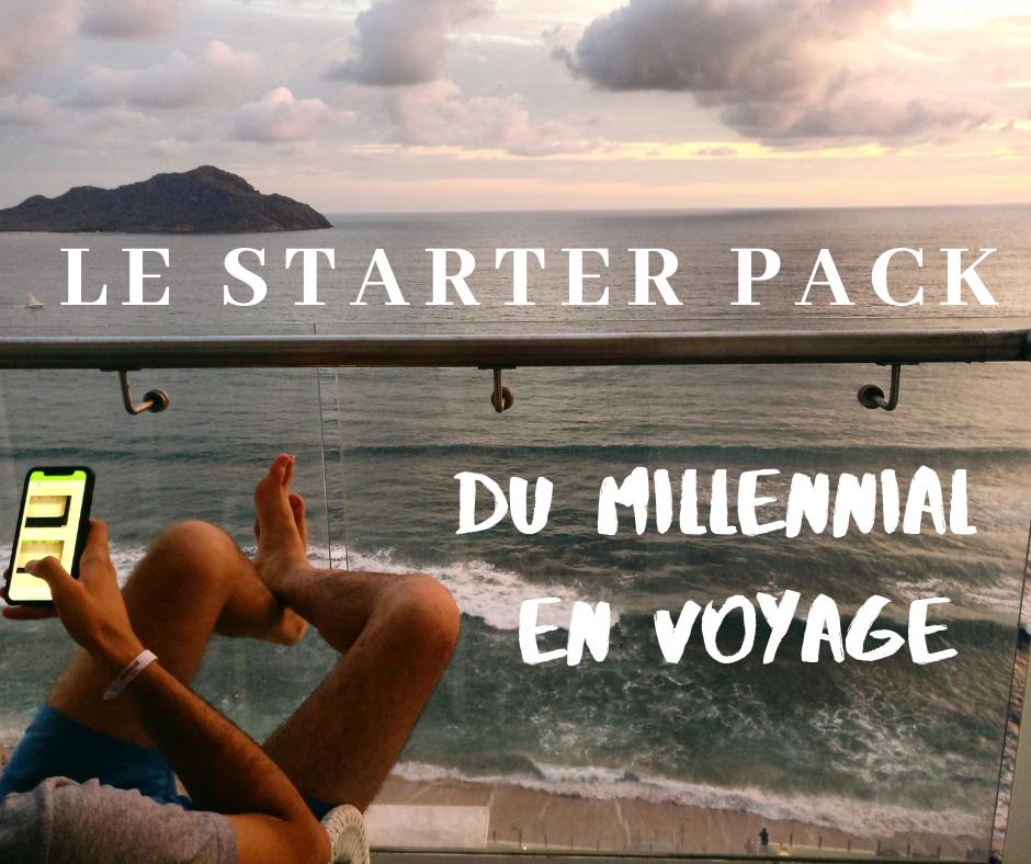 Le Starter Pack du millennial en voyage