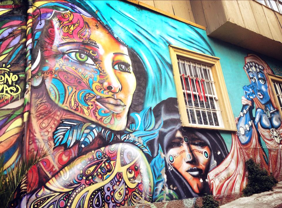 valparaiso, graffiti, chili