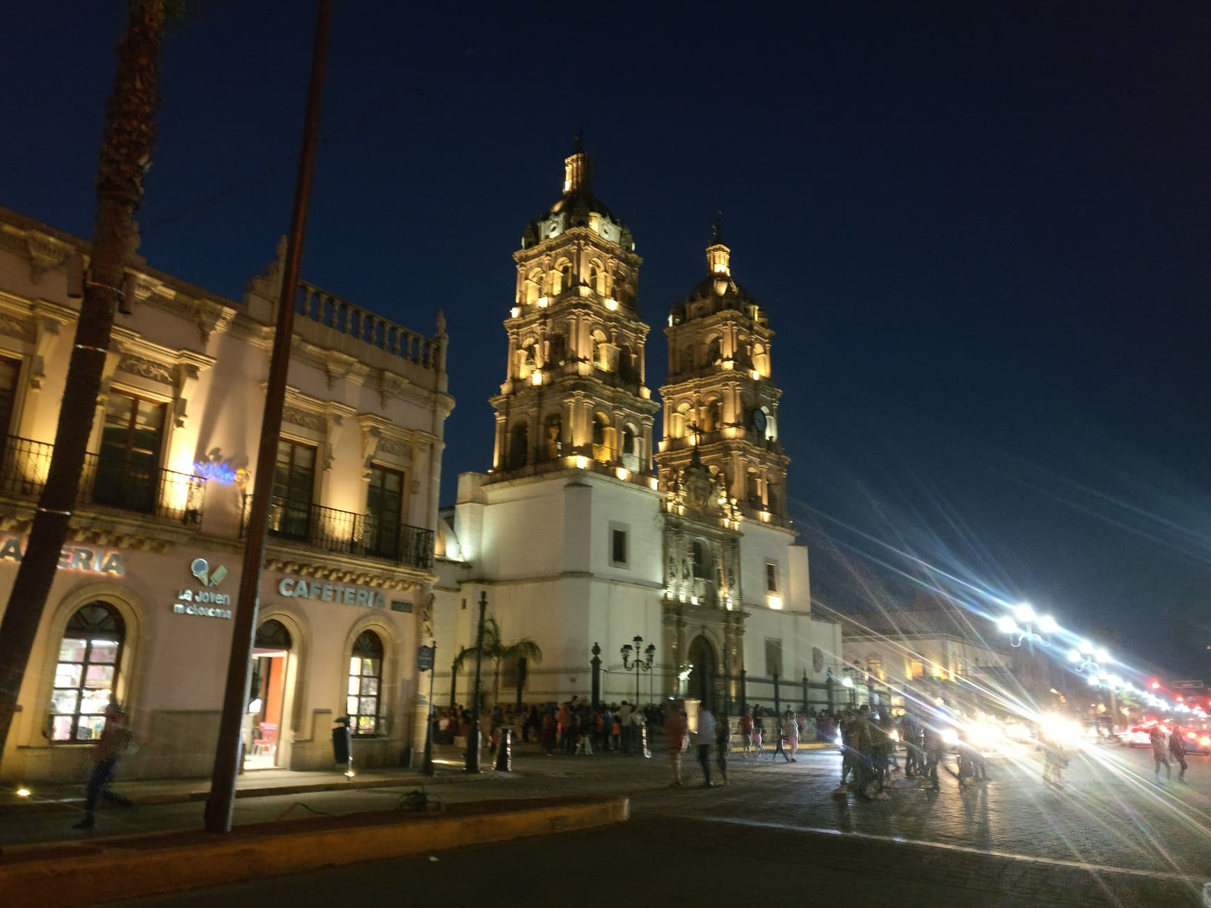 durango by night, mexique, cathédrale