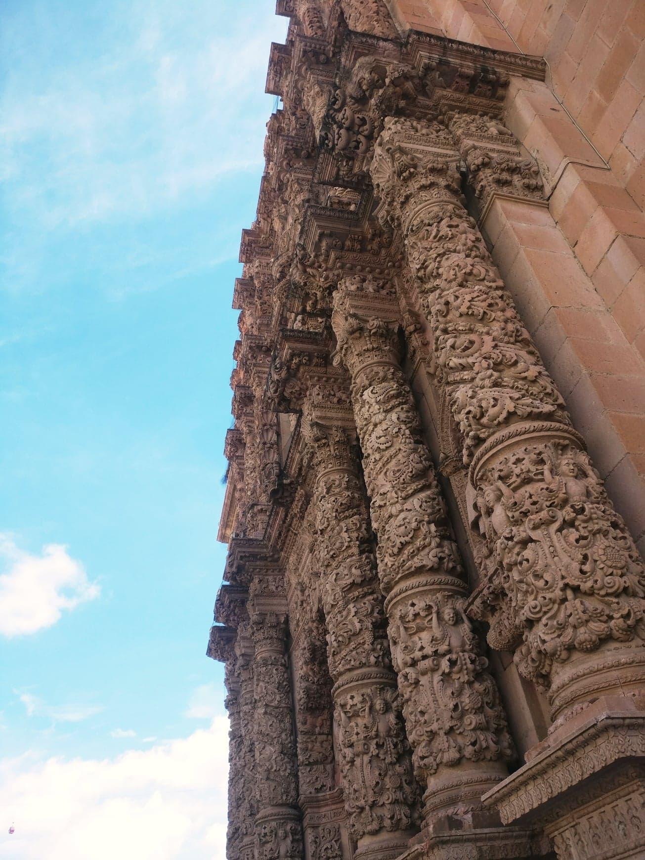 cathédrale zacatecas détails mexique
